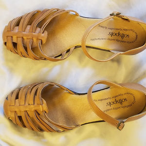 """Softspots Dark Beige Sandals 11W 1.5"""" Heel"""